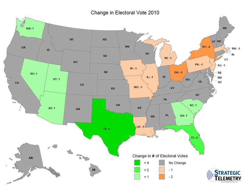 State by State Electoral College Change
