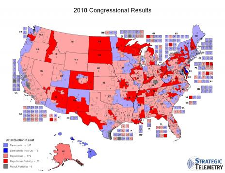 2010 Congressional District Results